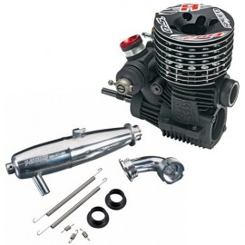 OS Speed Engine R2103 W/21M2 (B) with Exhaust system T-2080SC