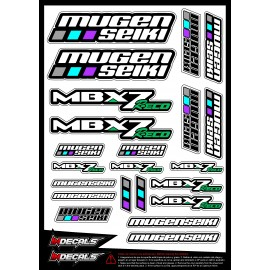 Sticker sheet Mugen MBX7R ECO