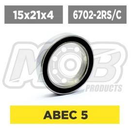 Ball bearings pack 15x21x4 6702-2RS/C - 10 pcs