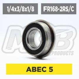 Ball bearings pack 1/4x3/8x1/8 Flanged FR168-2RS/C - 10 pcs