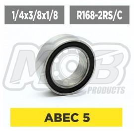 Ball bearings pack 1/4x3/8x1/8 R168-2RS/C - 10 pcs