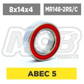 Ball bearings pack 8x14x4 MR148-2RS/C - 10 pcs