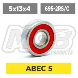 Ball bearings pack 5x13x4 695-2RS/C - 10 pcs