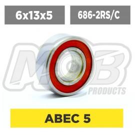 Ball bearings pack 6x13x5 686-2RS/C - 10 pcs