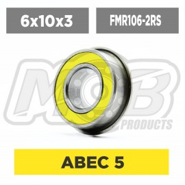Ball bearing 6x10x3 Flanged 2RS