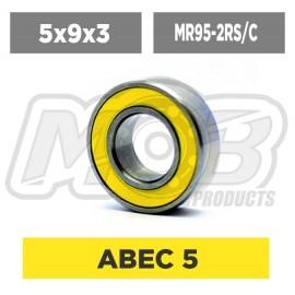 Ball bearings pack 5x9x3 MR95-2RS/C - 10 pcs
