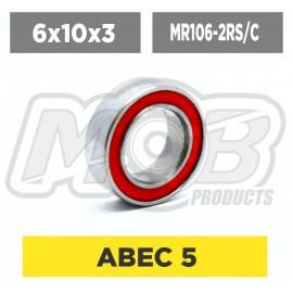 Ball bearings pack 6x10x3 MR106-2RS/C - 10 pcs