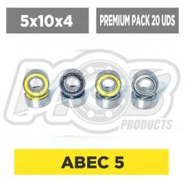 Clutch Ball bearings 5x10x4 Premium - 20 pcs