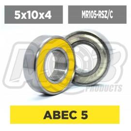 Ball bearings pack 5x10x4 MF105-RSZ/C - 10 pcs