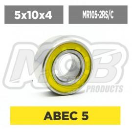 Ball bearings pack 5x10x4 MR105-2RS/C - 10 pcs