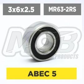 Ball bearing 3x6x2.5 2RS