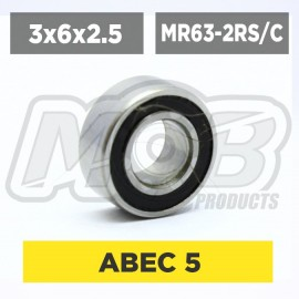 Ball bearings pack 3x6x2.5 MR63-2RS/C- 10 pcs