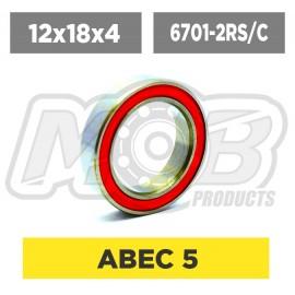 Ball bearings pack 12x18x4 6701-2RS/C - 10 pcs