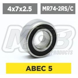 Ball bearings pack 4x7x2.5 MR74-2RS/C - 10 pcs