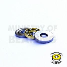 Ball bearing 4x10x4 Axial Acero