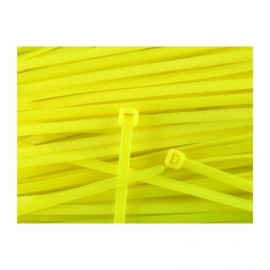 Nylon tie zip 100 mm - Yellow x20 pcs