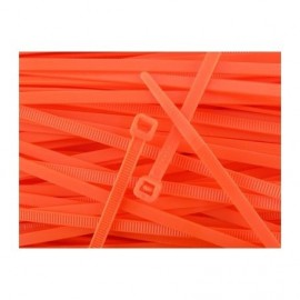 Nylon tie zip 100 mm - Orange x20 pcs