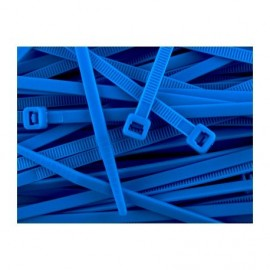 Nylon tie zip 100 mm - Blue x20 pcs