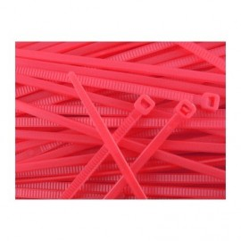 Nylon tie zip 100 mm - Red x20 pcs