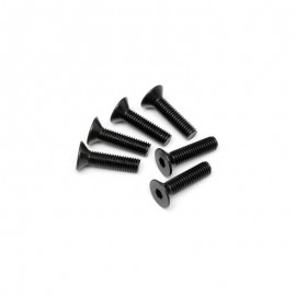 Screw M2x6mm Flat Head - 10 pcs