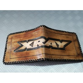 Portefeuille en cuir fait main XRAY