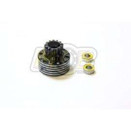 Cloche d'embrayage ventilée 13T + roulements PREMIUM