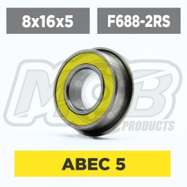 Ball bearing 8x16x5 2RS Flanged