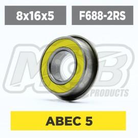 Ball bearings pack 8x16x5 688-2RS Flanged - 10 pcs