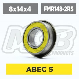 Ball bearing 8x14x4 2RS Flanged