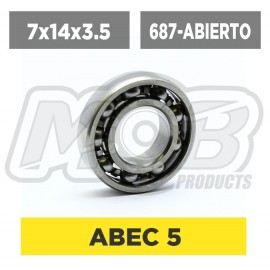 Ball bearing 7x14x3.5 Abierto
