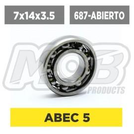 Ball bearings pack 7x14x3.5 687-Abierto - 10 pcs