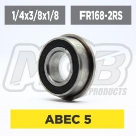 Ball bearing 1/4x3/8x1/8 2RS Flanged