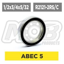 Pack de Rodamientos 1/2x3/4x5/32 R2121-2RS Ceramico - 10 uds.