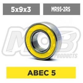 Ball bearings pack 5x9x3 MR95-2RS - 10 pcs