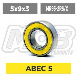 Ball bearings pack 5x9x3 MR95-2RS/C - 10 pcs