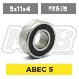 Ball bearings pack 5x11x4 MR115-2RS - 10 pcs