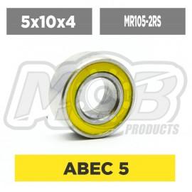 Ball bearings pack 5x10x4 MR105-2RS - 10 pcs