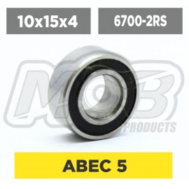 Ball bearings pack 10x15x4 6700-2RS - 10 pcs