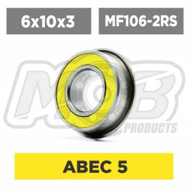 Ball bearings pack 6x10x3 Flanged MF106-2RS - 10 pcs