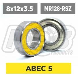 Ball bearings pack 8x12x3.5 Flanged MF128-RSZ - 10 pcs
