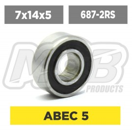 Ball bearings pack 7x14x5 687-2RS - 10 pcs