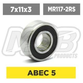 Ball bearings pack 7x11x3 MR117-2RS - 10 pcs