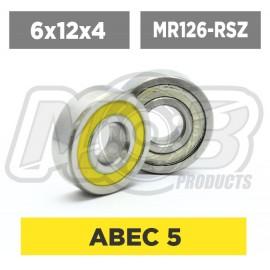 Ball bearings pack 6x12x4 MR126-2RS/C - 10 pcs