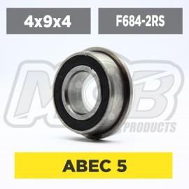 Ball bearings pack 4x9x4 Flanged F684-2RS - 10 pcs