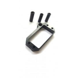 HB E817 Aluminum servo mount Black