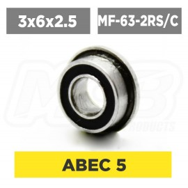 Ball bearing 3x6x2.5 2RS Flanged Ceramic