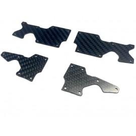Set placas carbono trapecios Sworkz S35-4 1.5mm