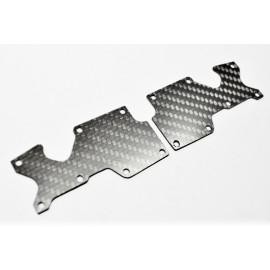 Placa carbono trapecio trasero Sworkz S35-4 1.5mm