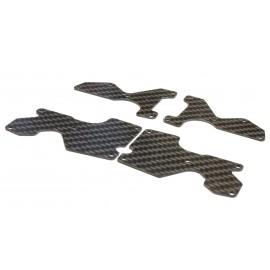 Set placas carbono trapecios Mugen Mbx8 1.5mm