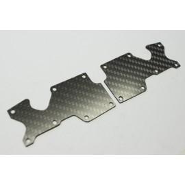 Placas carbono trapecio trasero Mugen Mbx8 1mm
